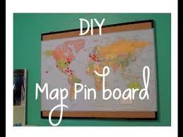 Pin Board Diy Map Pinboard Youtube