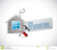 Home Renovation Home Renovation Symbol Illustration Design Stock Image Image