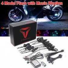 new motorcycle sound sync flash accent glow neon led lights