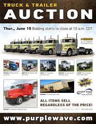 used kenworth semi trucks for sale sold june 15 truck and trailer auction purplewave inc