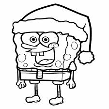 spongebob wear hat santa coloring page spongebob coloring page