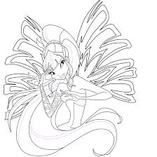 Musa Sirenix Coloring Page 1 By Mskittencreations On Deviantart Winx Club Musa Coloring Pages