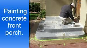 painting exterior concrete porch youtube