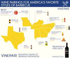 america map carolina map wine pairings for america s favorite styles of barbecue