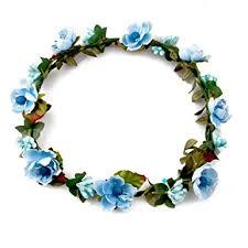 hair wreath floral fall boho headband flower crown festival wedding hair
