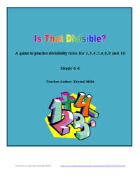 grade 5 8 free divisibility rules game poster and printable by
