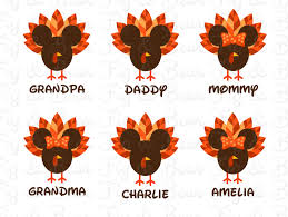 disney family thanksgiving t shirts iron ons transfers