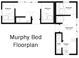 Twin House Plans The Twin Tiny Villa A 3 Bedroom 2 Bath With Murphy Beds You