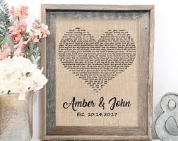wedding gift by year one year anniversary etsy