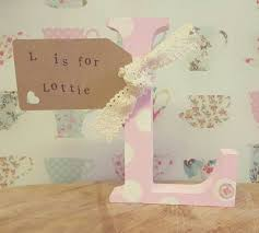 Personalised Baby Nursery Decor Lottie Personalised Baby Letter Nursery Decor Personalised
