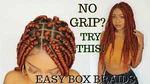 Light Brown Box Braids Easy Grip Box Braids Tutorial Step By Step Rubberband Method