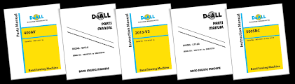 product manuals doall sawing
