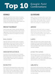 Best Font For Resume Verdana by Top 10 Google Font Combinations Webfont Typography Typography