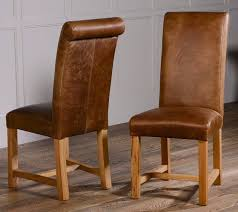 Quality Leather Dining Chairs Roll Back Leather Dining Chairs Pair Dining Chairs Solid Oak