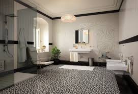 Bathroom Border Ideas by Bathroom Tile Floor Carpet For Extraordinary Motif In Cream