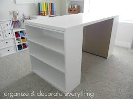 Making Your Own Kitchen Island Floor Ikea Hack Diy Work Table Using Ikea Bookcase Astral Riles