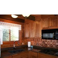 Gwens Cabin Aluminum Backsplash Tile  Ceiling Tiles - Aluminum backsplash