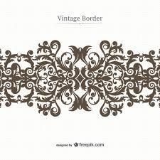 black floral ornament vector vector free