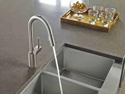 moen high arc kitchen faucet moen 7565esrs spot resist stainless align metal touchless pullout
