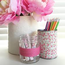 use washi tape to decorate desk accessories canadian living