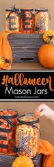 easy diy halloween mason jars perfect for a halloween tablescape