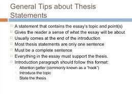 what is the thesis statement what is a thesis statement in an essay
