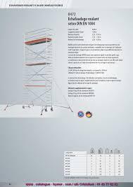 Petit Echafaudage Roulant by P84 Echafaudage Roulant Alu 0 80 X 1 90 M H 9 25 Metres 8472