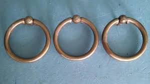 Brass Ring Pulls Cabinet Hardware by 1 Lg Antique Keeler Ring Pull Cabinet Pullssolid Brass Ring