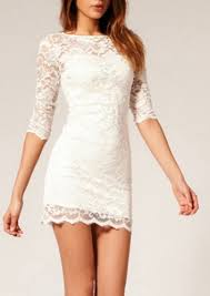 white bodycon dress happyday lace bodycon dress white and black available online