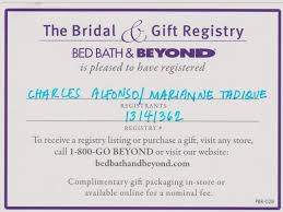 wedding gift registry list bed bath beyond wedding registry list archives 43north biz