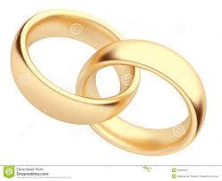 symbol of ring in wedding wedding gold ring 3d isolated symbol of stock illustration