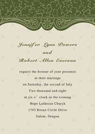 wedding invitation card discount country green swirl summer wedding invitation card ewi075