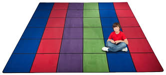 Squares Rug Classroom Rugs Kidcarpet Com