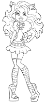 monster high clawdeen wolf coloring pages clawdeen wolf is photo model coloring pages monster high