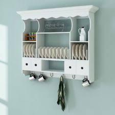 white wooden wall cabinet cupboard storage shelf display kitchen