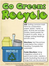 go green recycle activity go green earth day worksheets and