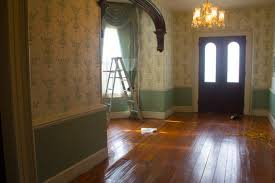 refinishing the entrance floor part 1