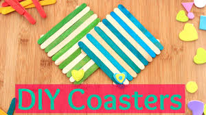 diy crafts coasters using ice cream sticks youtube