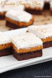 light pumpkin dessert recipes chocolate pumpkin bars recipe