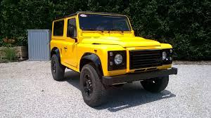 land rover yellow land rover defender 90 110 lhd for usa and europe