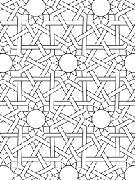 islamic ornament mosaic coloring free printable coloring pages