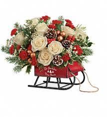 teleflora u0027s joyful sleigh bouquet in houston tx flowers for you