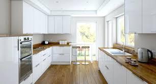 cuisine parfaite cuisine blanche cuisine blanche et bois le mariage parfait pour une