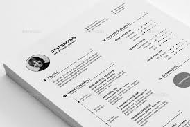25 best simple photoshop u0026 indesign resume templates web