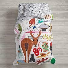 Dimensions Of Toddler Bed Comforter Charley Harper Florida Keys Toddler Bedding The Land Of Nod