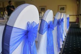 blue chair sashes royal blue organza sashes s party rental