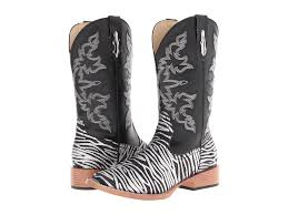 womens zebra boots roper zebra glitter boot square toe at zappos com