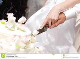 wedding cake cutting cutting a wedding cake stock image image of nuptials 4455773