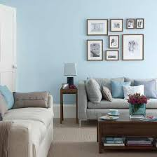 Gray Blue Living Room Maybe Along With The Stripes Painting One Wall This Light Blue