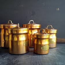 copper kitchen canisters containers u2013 in the vintage kitchen shop